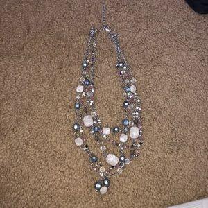 Lia Sophia beaded adjustable necklace.